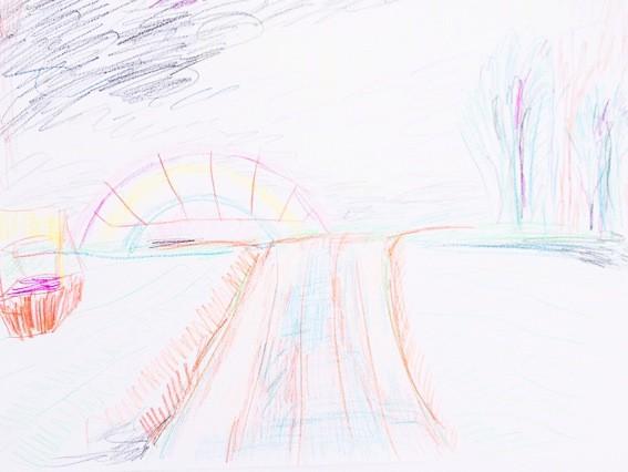 Landschaft mit Spielplatz, pencil on paper, 210x297mm, 2013