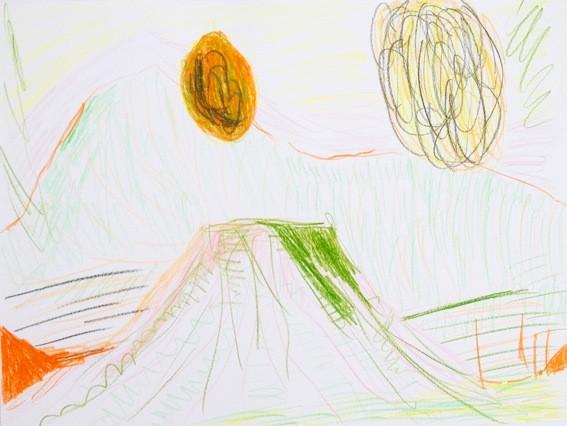 Landschaft mit zwei Sonnen, pencil on paper, 297x420mm, 2013